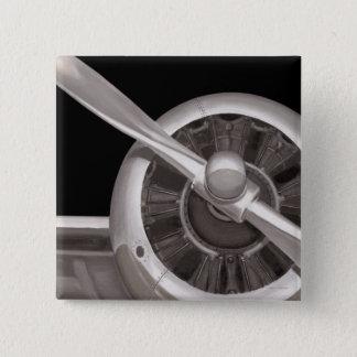 Airplane Propeller Closeup 15 Cm Square Badge