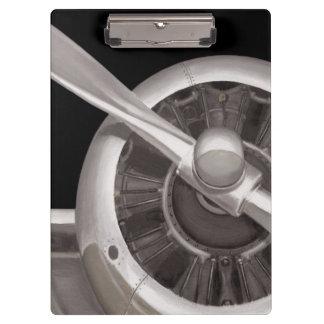 Airplane Propeller Closeup Clipboard