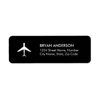 Airplane Return Address Label