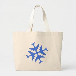 Airplane Snowflake Bags