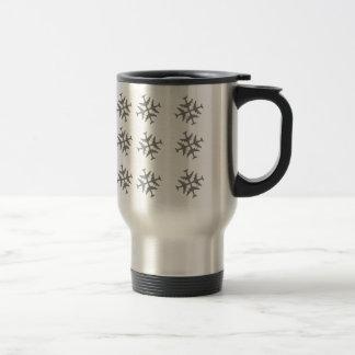 Airplane Snowflake Stainless Steel Travel Mug