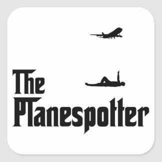 Airplane Spotting Square Sticker