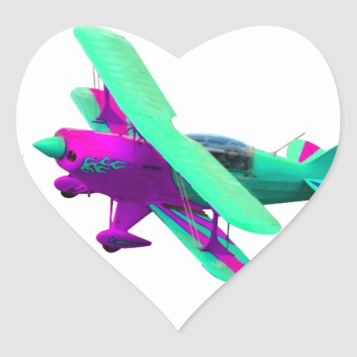 Airplane Heart Stickers