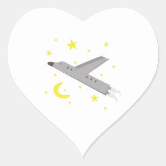 Airplane Heart Sticker