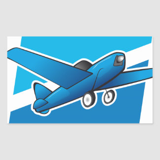 Airplane Rectangle Stickers
