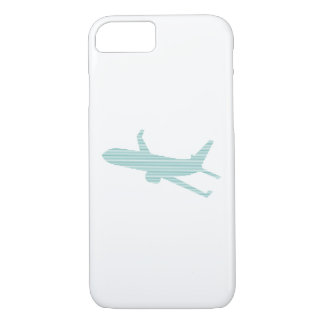 Airplane - strips - blue. iPhone 8/7 case
