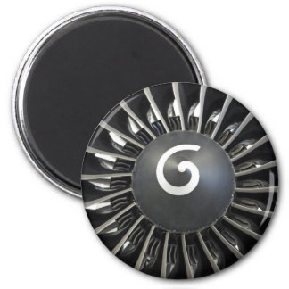 Airplane turbine magnet