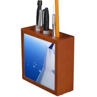 Airplane Wing in Sky Photo v2 Desk Organiser