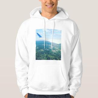 Airplane wing view sweatshirt