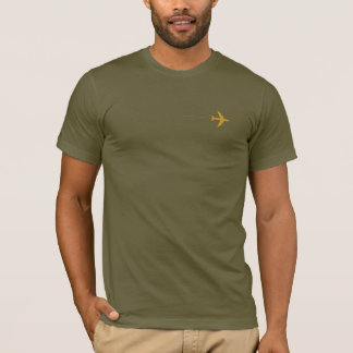airplane with dotted line army-green T-Shirt