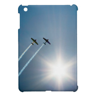 Airplanes Flying on Blue Sky with Sun. iPad Mini Cover