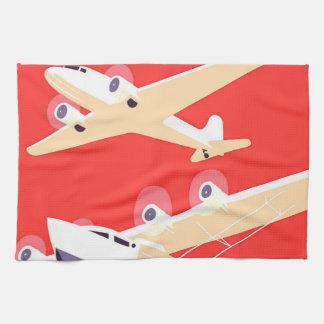 Airplanes Flying Vintage Propeller Planes Hand Towel