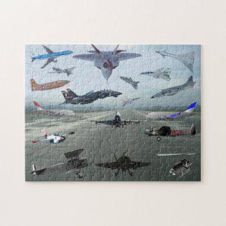 AIRPLANES ON A CAROLINA BLUE SKY JIGSAW PUZZLE