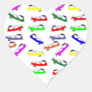 Airplanes Heart Sticker