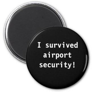 airport 6 cm round magnet