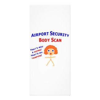 Airport Body Scan Rack Card Design
