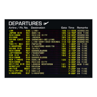 Airport Departures Poster