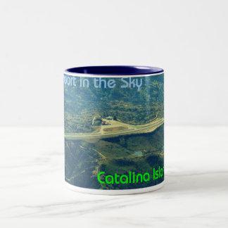 Airport in the Sky Two-Tone Coffee Mug