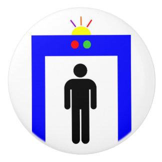 airport metal detector security alarm stick man sy ceramic knob