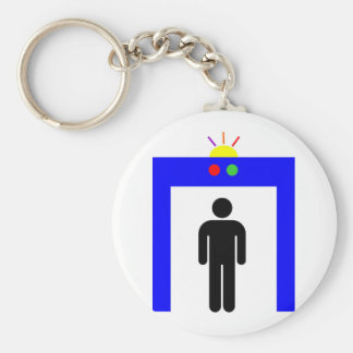 airport metal detector security alarm stick man sy key ring