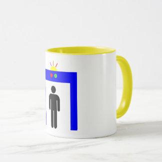 airport metal detector security alarm stick man sy mug