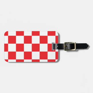 Airport Red Checker Markings Luggage Tag