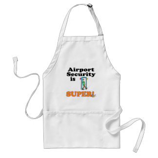 airport security is super standard apron