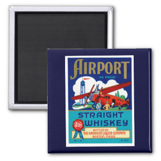 Airport Straight Whiskey Magnet