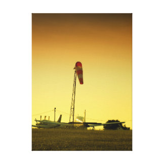 Airport sunset canvas print