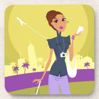 Airport woman gold coaster