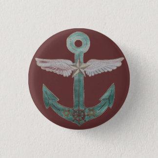 Airship Anchor 3 Cm Round Badge