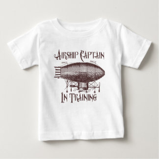Airship Captain in Training, Steampunk for Kids Baby T-Shirt