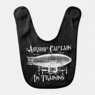 Airship Captain in Training, Steampunk for Kids Bib