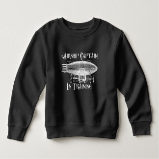 Airship Captain in Training, Steampunk for Kids Sweatshirt