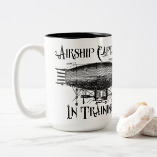Airship Captain in Training, Steampunk Two-Tone Coffee Mug