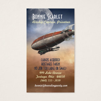 Airship Captain (Vertical) Business Cards