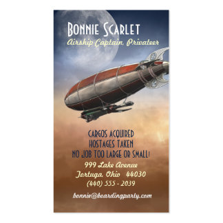 Airship Captain Vertical Business Cards