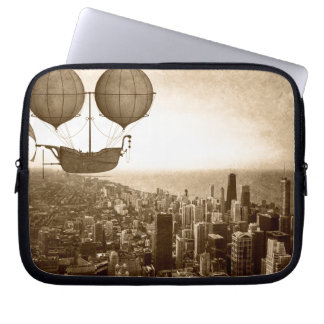 Airship Over Chicago Laptop Sleeve