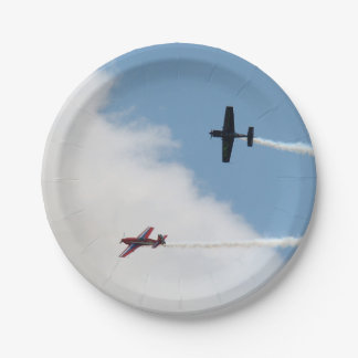 Airshow Fixed Wing Airplane Dogfight Paper Plate