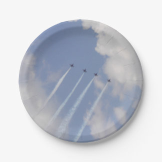 Airshow Military Jet Formation Paper Plate