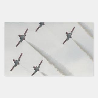 airshow plane composition rectangular sticker