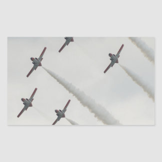 airshow plane composition rectangle stickers