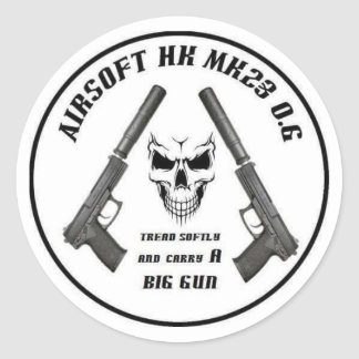 Airsoft MK23 Owners Group stickers. Classic Round Sticker