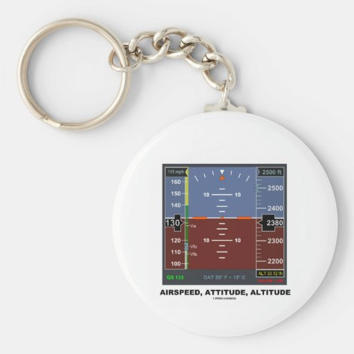 Airspeed Attitude Altitude Electronic Flight EFIS Keychain
