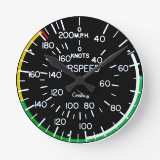 Airspeed Indicator Clock Flight