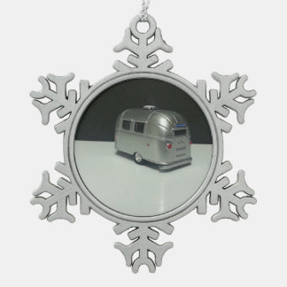 airstream bumper camper snowflake pewter christmas ornament