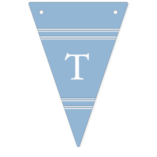 Airy Blue with White Wedding Detail Bunting