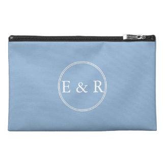 Airy Blue with White Wedding Detail Travel Accessories Bag