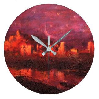 Ait Ben Haddou. Kasbah in Morocco Large Clock