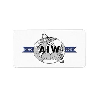 AIW 25th Anniversary Logo-18 Per Sheet Label